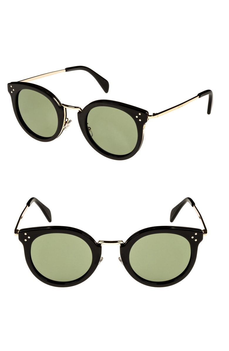 1294a2e29f Free shipping and returns on Céline 49mm Round Sunglasses at Nordstrom.com.  A metal