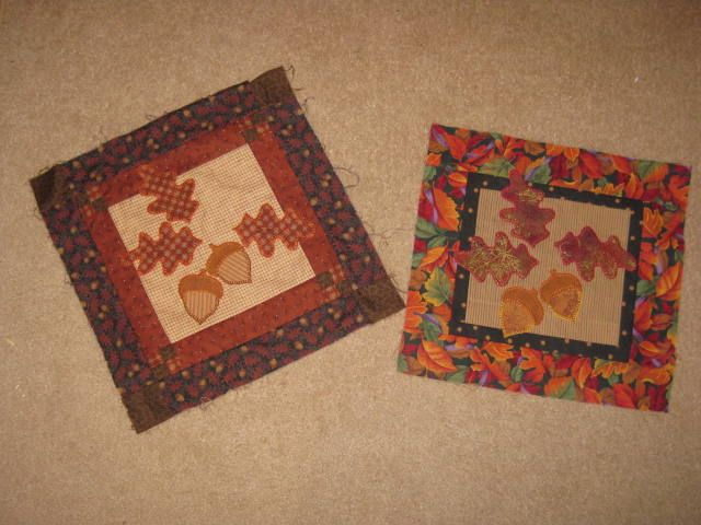 fall leaves mini quilts