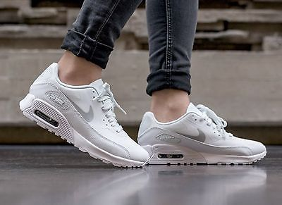 reputable site 54c31 a82b1 Nike Air Max 90 Ultra 2.0 Women s Lifestyle Comfort Shoes White Metallic ❤️