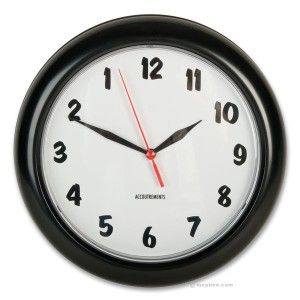 $13 A clock that displays the right time, but runs backwards.