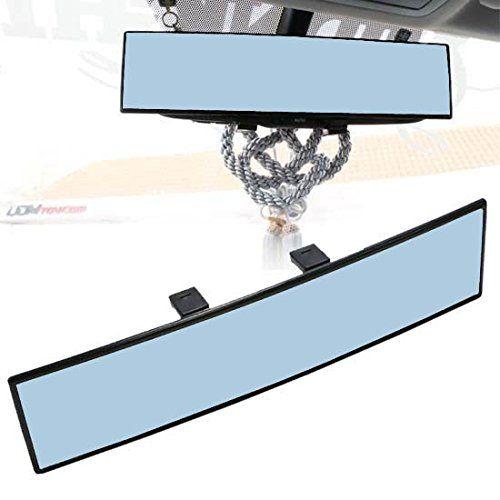 300MM Convex Wide Flat Interior Clip On Rear View Blue Tint Mirror Universal Car