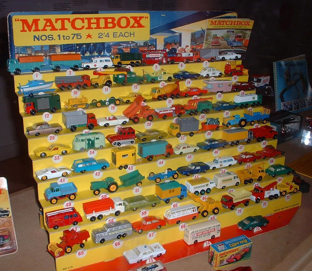 Matchbox 1960's shop display units Matchbox cars, Matchbox