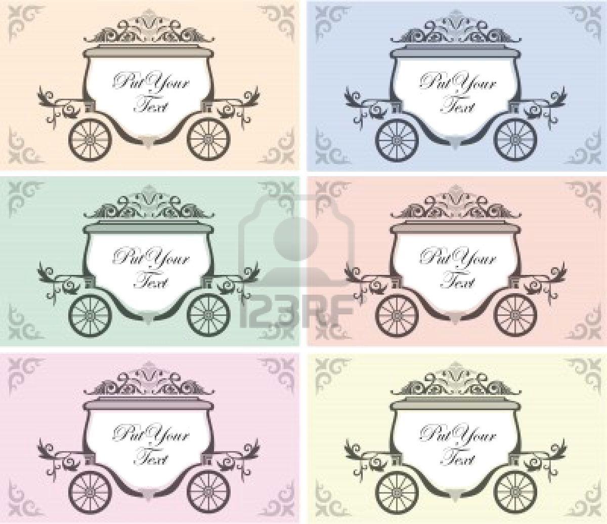 carriage wedding invite