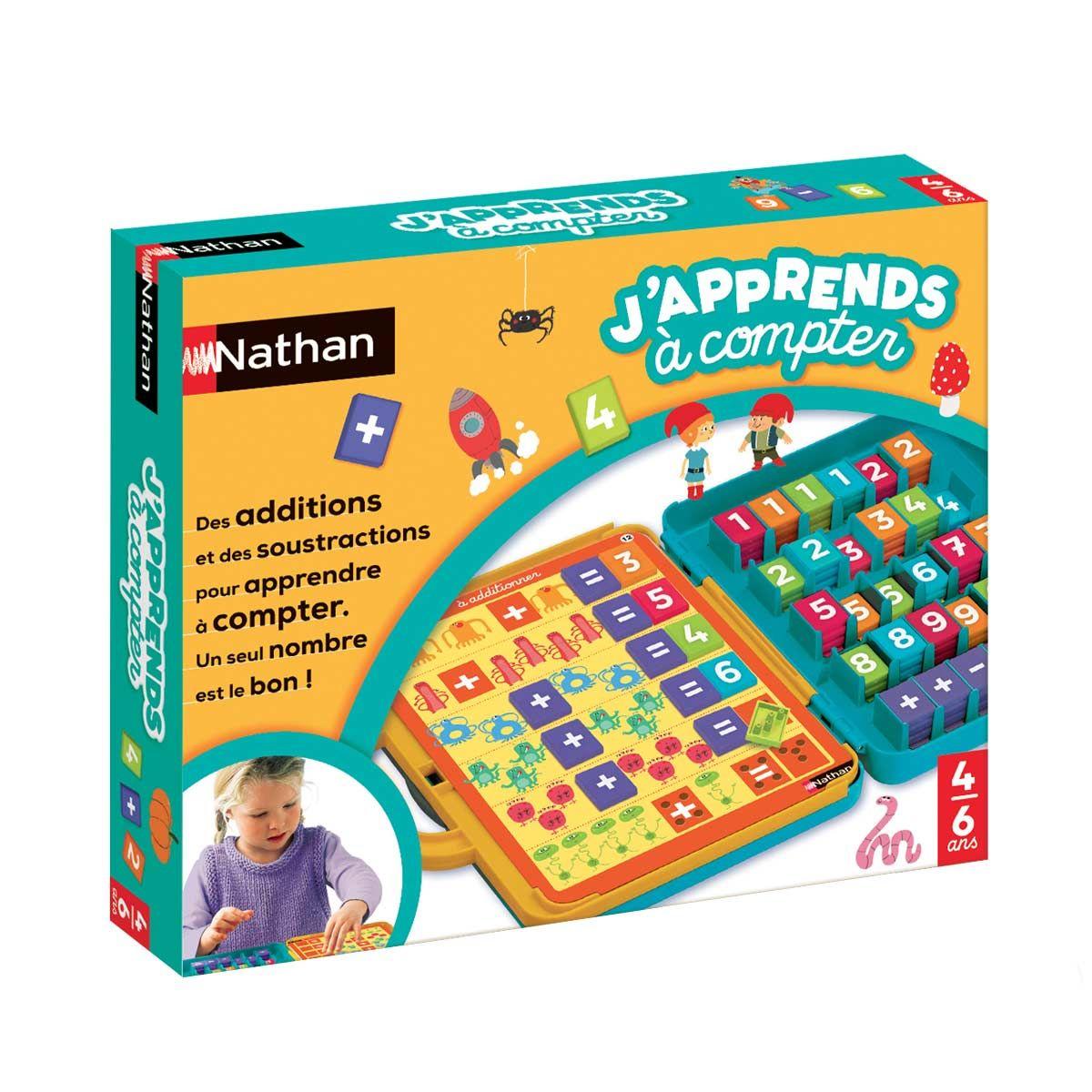 Jeu éducatif J'apprends à compter Nathan | Jeu educatif, Jeux pour apprendre et Apprendre à compter