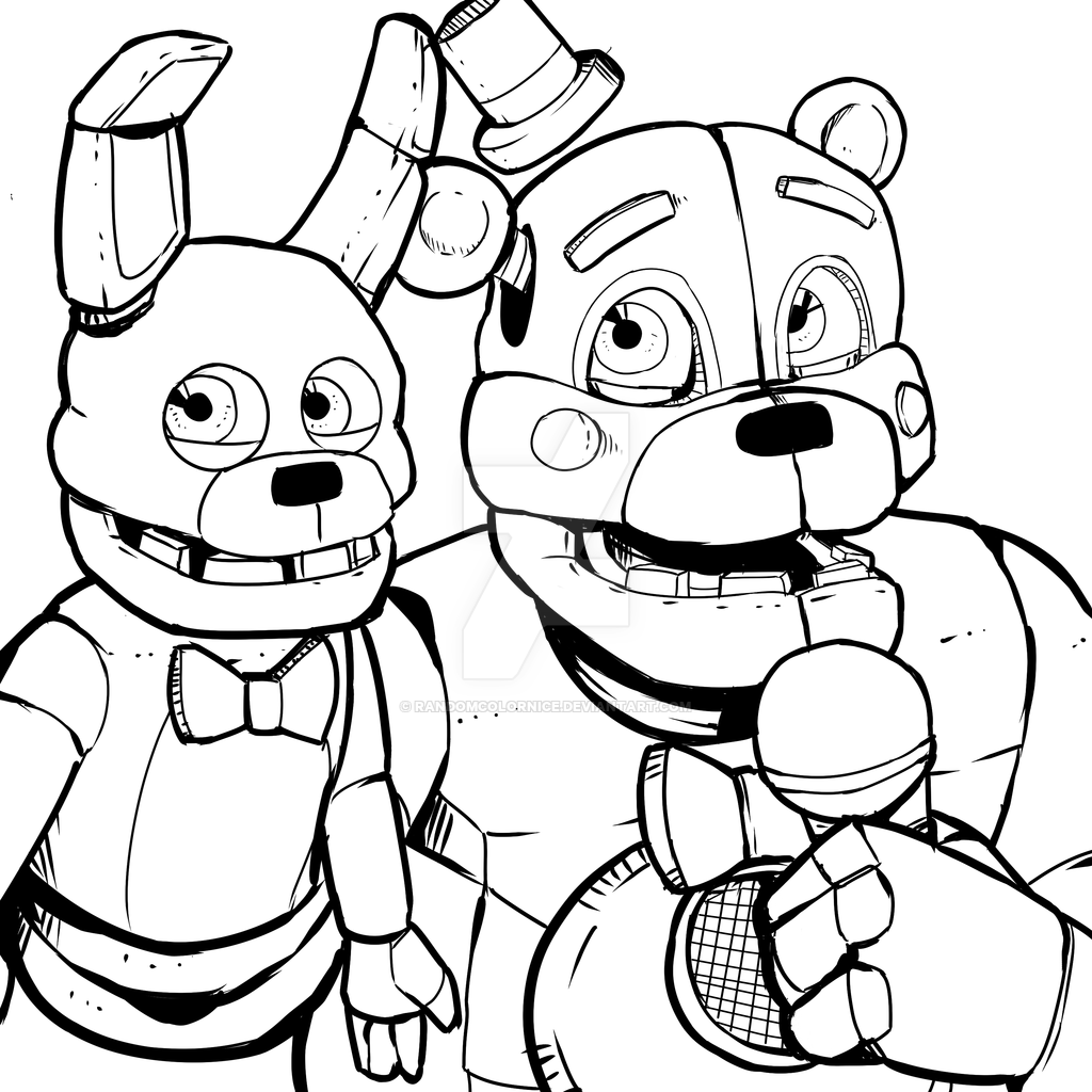 Fnaf Sister Location Coloring Pages