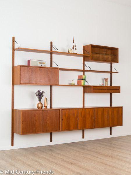 vintage regale poul cadovius regalsystem 60er vintage teak ein designerst ck von mid. Black Bedroom Furniture Sets. Home Design Ideas