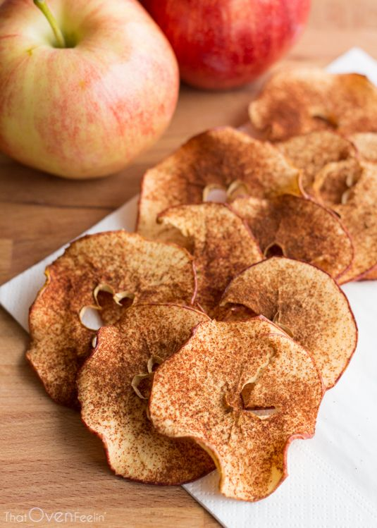 Cinnamon Sugar Apple Chips