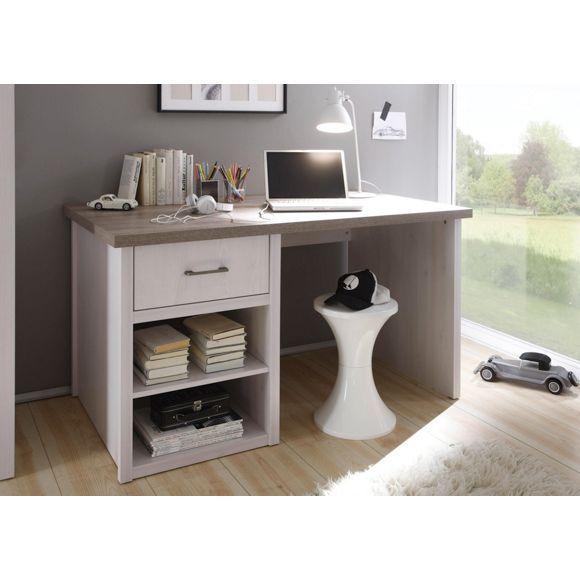 schreibtisch im landhausstil einladender arbeitsbereich mit viel stauraum home office in 2019. Black Bedroom Furniture Sets. Home Design Ideas