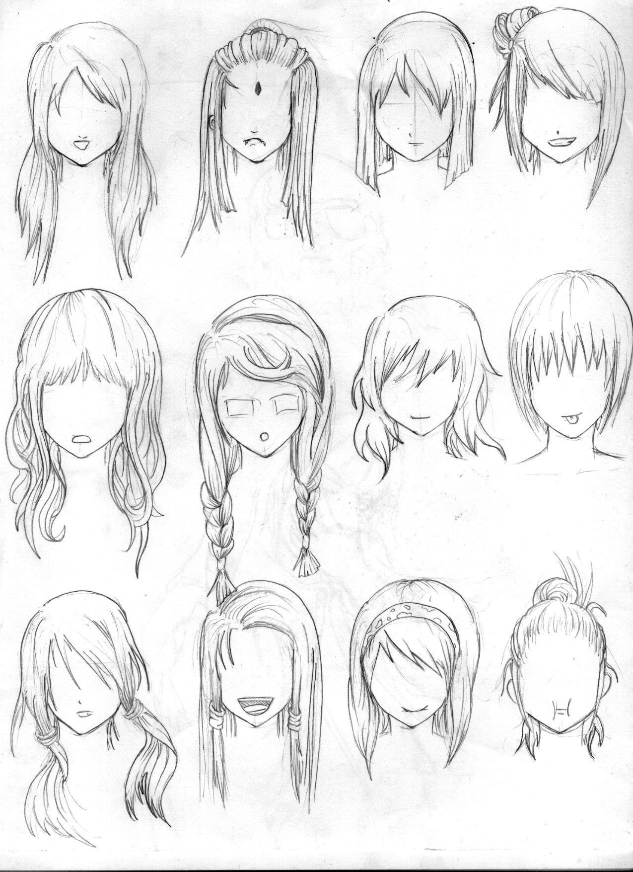 28 Albums Of Easy Drawings Of Girls With Short Hair Explore Tomboyhairstyles 28 Albums Of Easy Dr Short Hair Drawing How To Draw Hair How To Draw Anime Hair