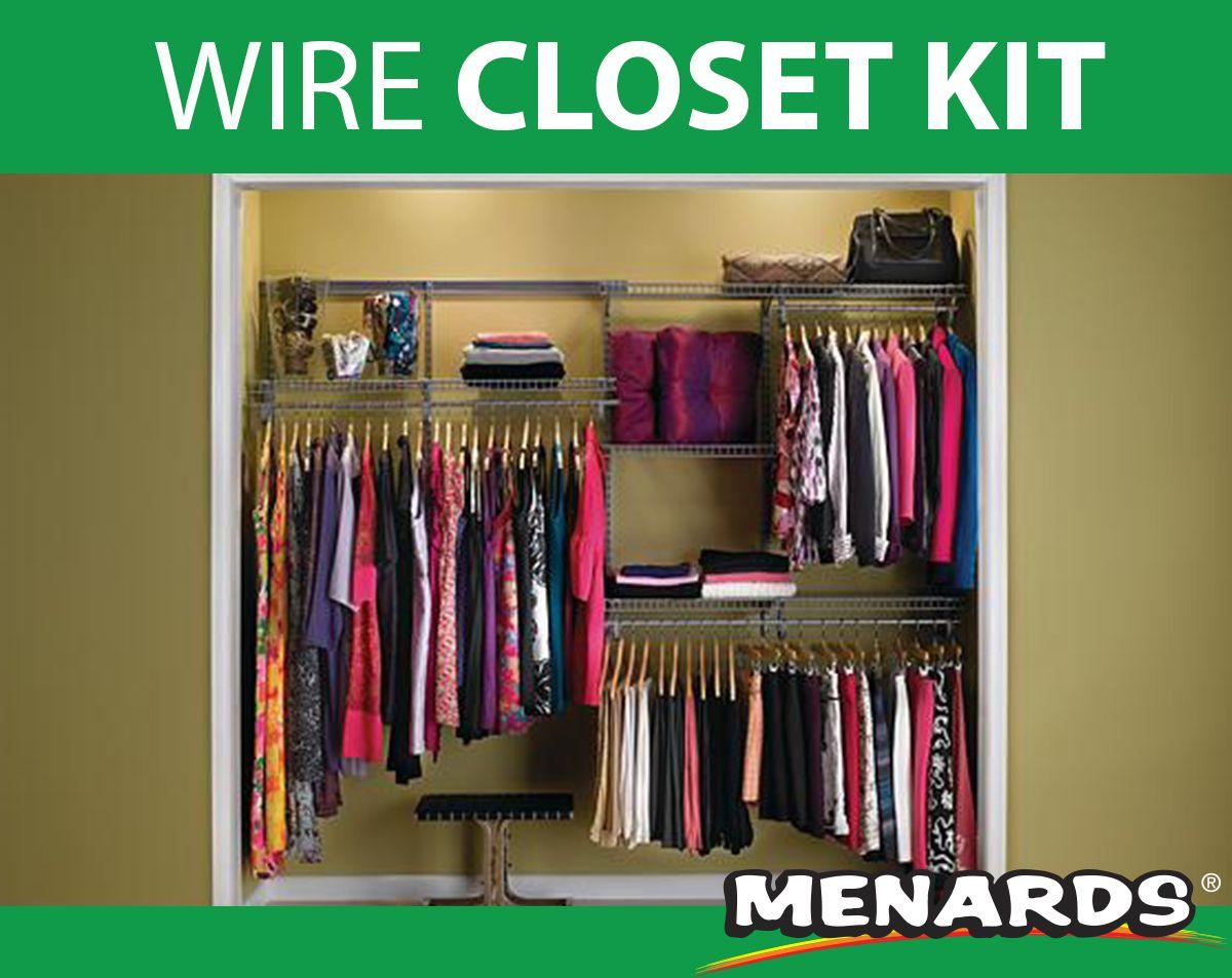 Shelftrack 2 To 4 Ft Adjustable Hang Rod Kit Hanging Wire Shelving Closetmaid