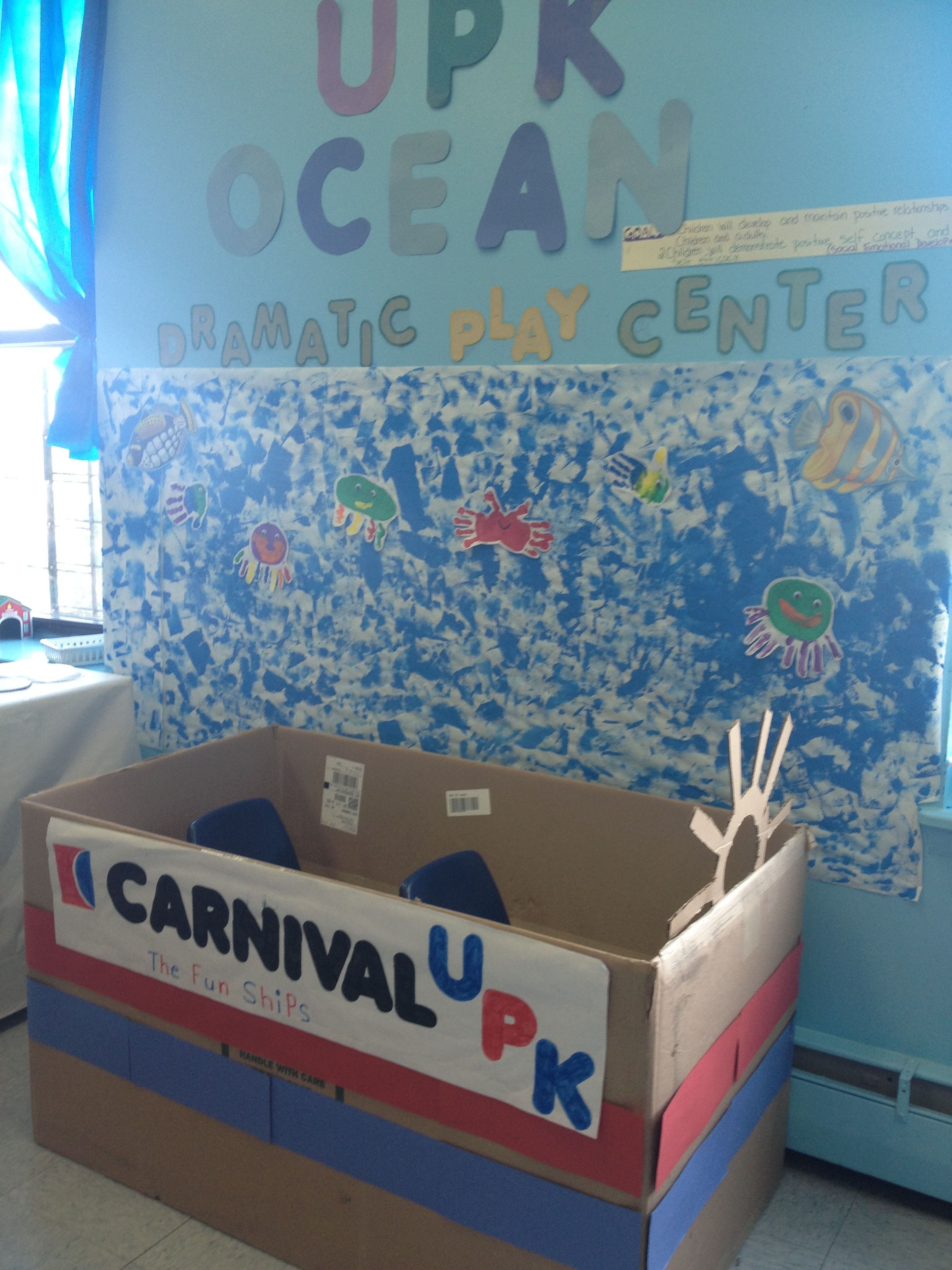 Ocean Theme Boat I Made For My Students Dramatic Play