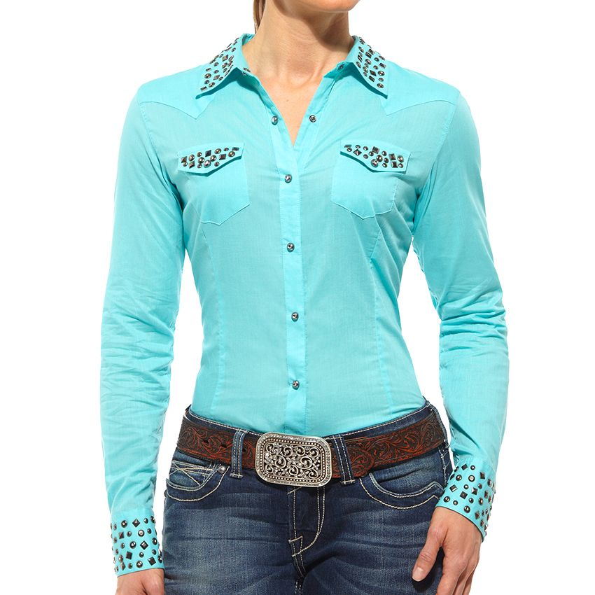 6ef2fa7604667 Ariat Women s Chloe Studded Long Sleeve Western Shirt