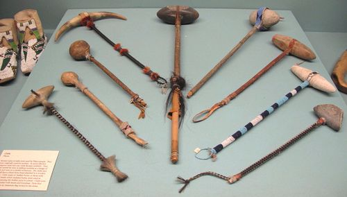 "Native American ""war"" clubs 