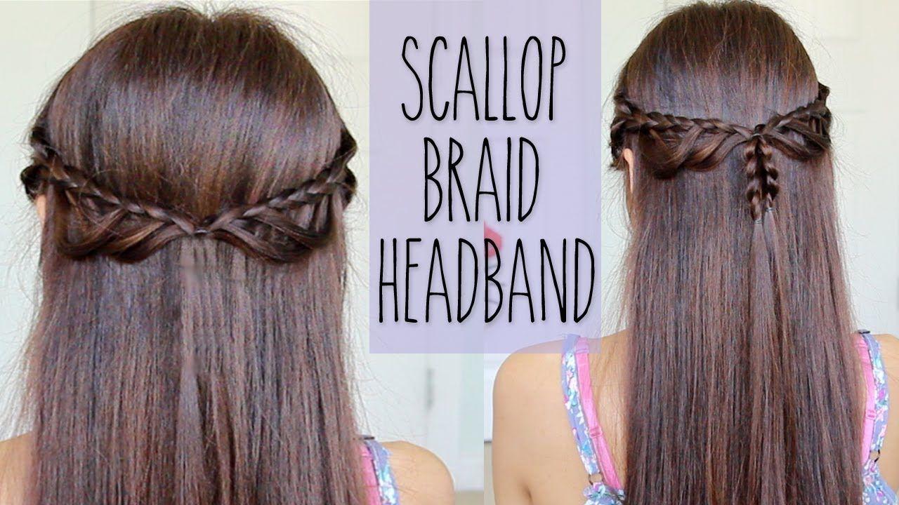 Scallop Braid Headband  Hairstyle for Medium Long Hair Tutorial