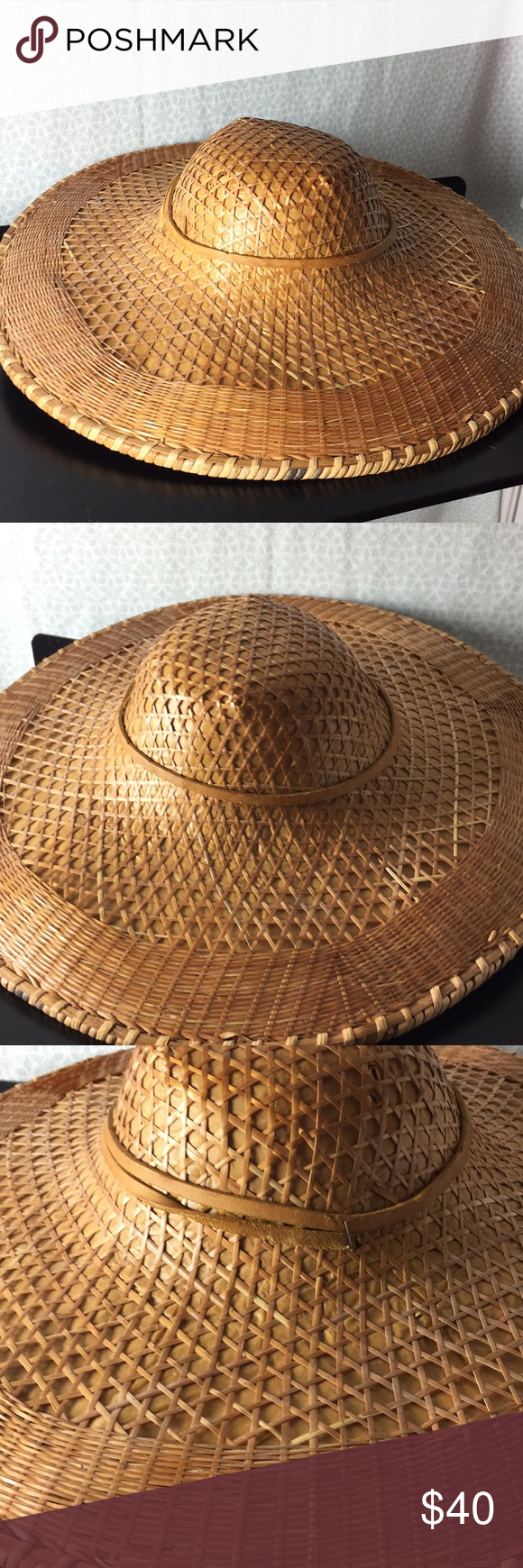 Vintage Asian Rice Paddy Hat Vintage Straw Woven Asian Rice Paddy Hat Great Con Vintage Asian Rice Paddy Hat Vinta Asian Rice Asian Decor Bathroom Asian