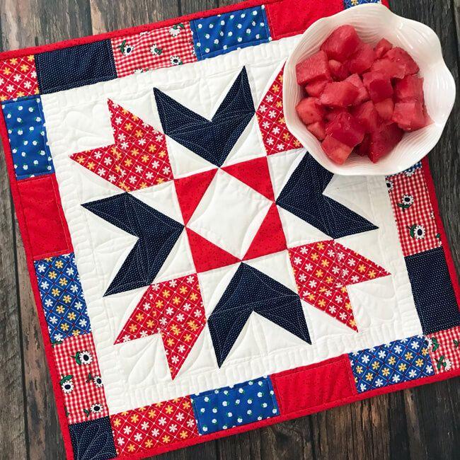 Sunnyside Star Table Topper Quilt Pattern