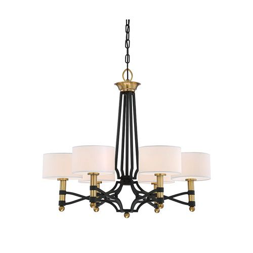 Savoy House Exete Carbon 27 Inch Six Light Chandelier On Sale