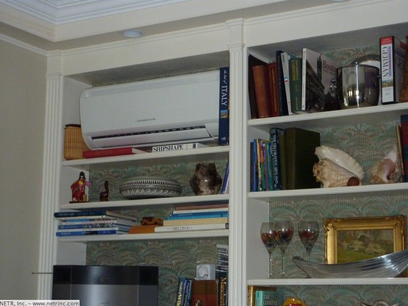Conceal The Ductless Heating And Air System Inside Shelving Casa