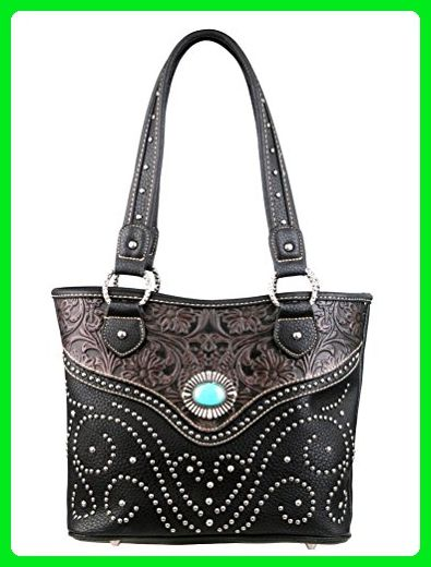d25706ce3f02 Montana West Trinity Ranch Handbag, Tooled Design Western Purse ...