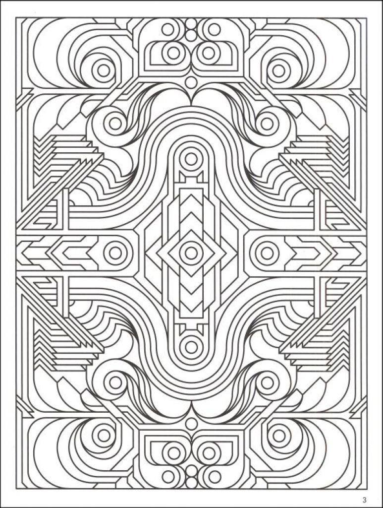 Highly Detailed Printable Coloring Page Of Geometric