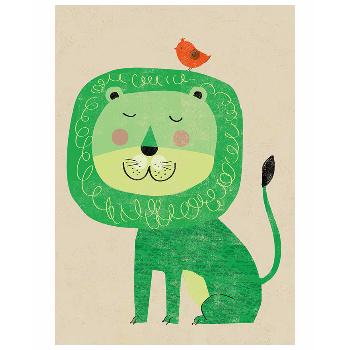 East End Prints  Lion A3 Unframed Print - Trouva