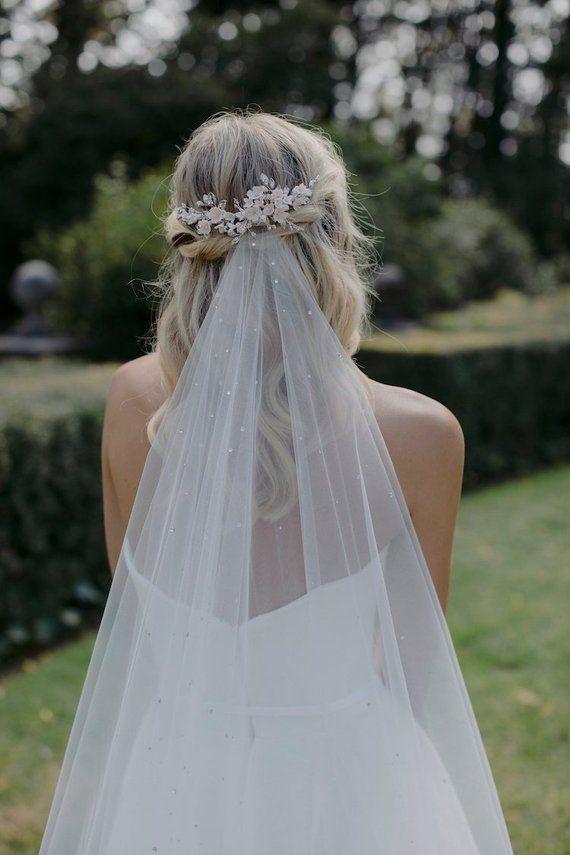 WISTERIA   Blush wedding headpiece, bridal hair piece #bridalhairflowers
