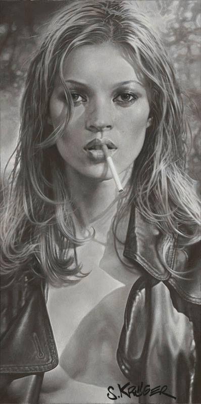 High Contrast: Kate Moss by Inez van Lamsweerde & Vindoodh
