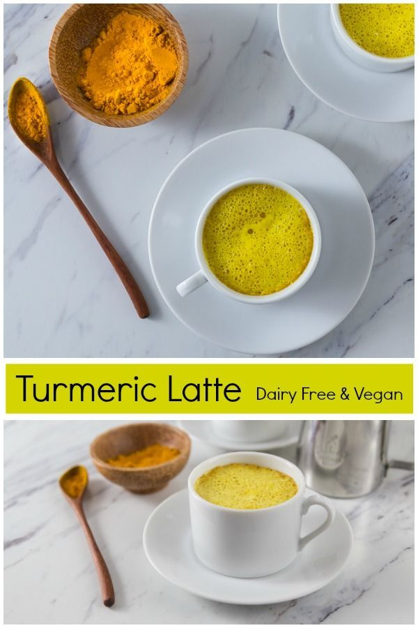 Turmeric Latte (Vegan version, too) #i'mthirsty