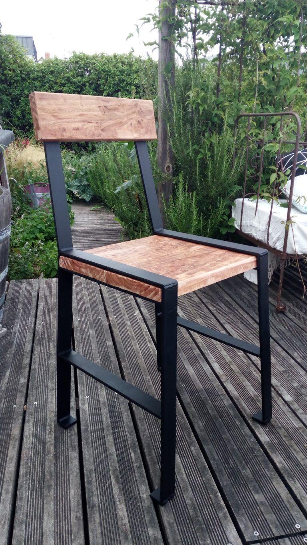Chaise Bois Et Metal Industriel Épinglé par ariel sur sillones | chaises bois, meuble bois