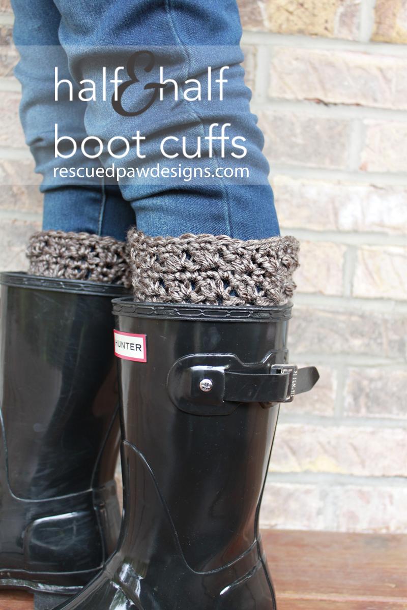 Half & Half Boot Cuffs - Free Crochet Pattern   Free crochet ...
