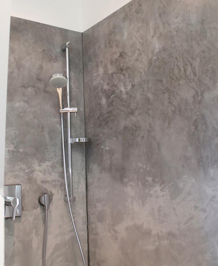 Style Beton Wandgestaltung Badezimmer Dusche Fliesen Wand