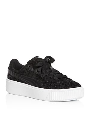 1c50c9fd0ed PUMA WOMEN S BASKET CLASSIC FLORAL LACE LACE UP PLATFORM SNEAKERS.  puma   shoes