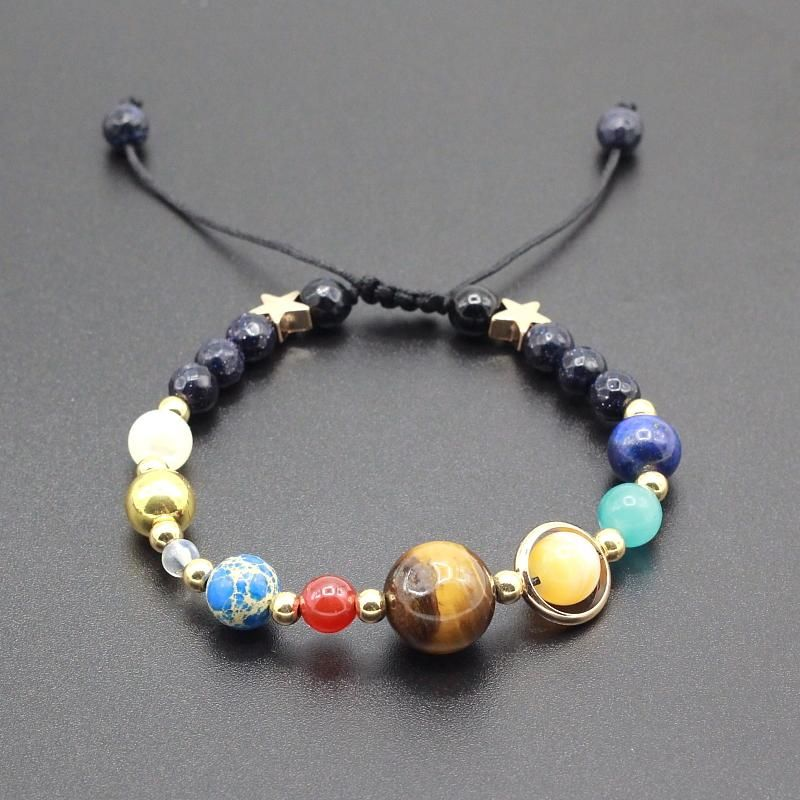 ce9e9dddb0 Solar System with 8 Planets Adjustable Beaded Bracelet in 2019