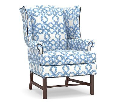 Lilly Pulitzer Thatcher Upholstered Wingback Chair