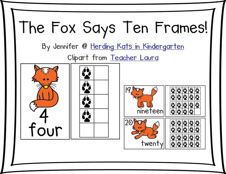 The Fox Says Ten Frames | Ten frames, Worksheets and Foxes