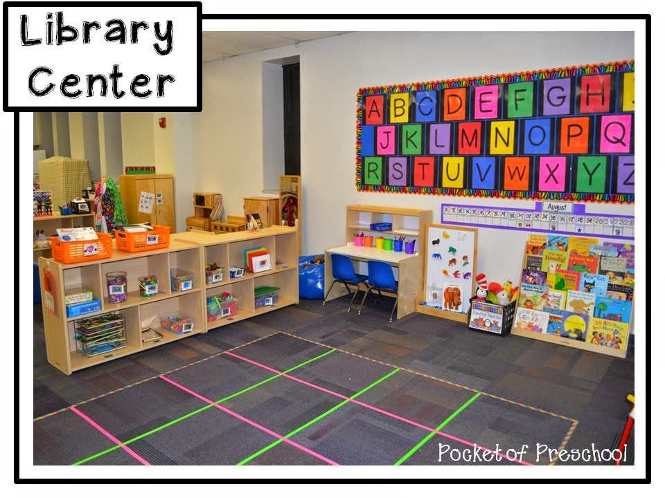 Classroom Start Up Ideas ~ Classroom reveal the library center in a preschool