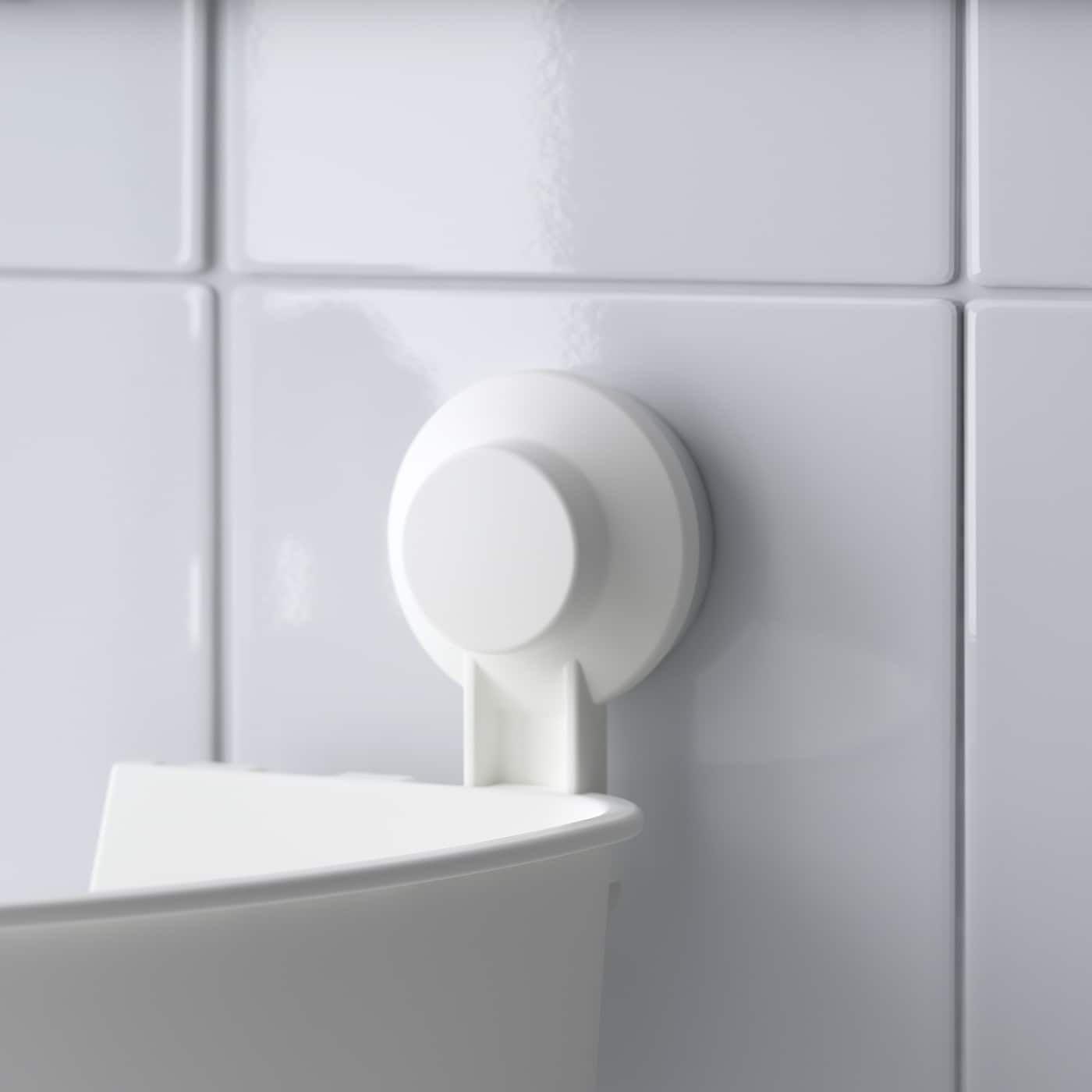 Tisken Corner Basket With Suction Cup White In 2020 Bathroom