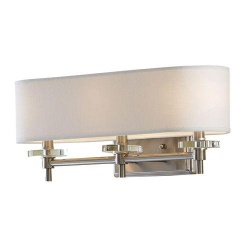 Bathroom Vanity 3 Light Fixture Brushed Nickel Bell Wall Lighting Allen Roth: $69 Half Bath? Allen + Roth 3-Light Brushed Nickel Bathroom Vanity Light