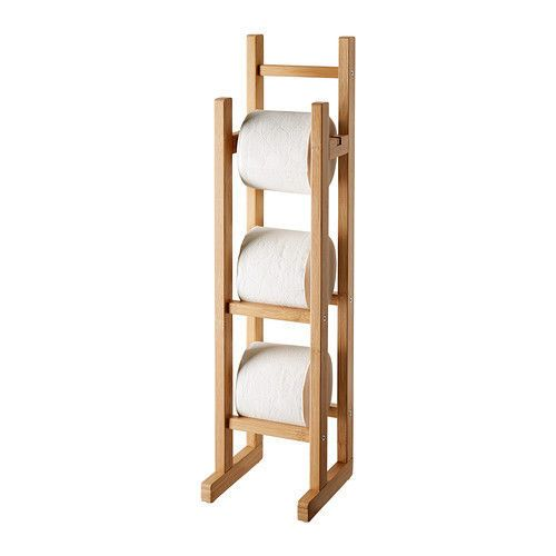14++ Wooden toilet paper holder stand with storage information