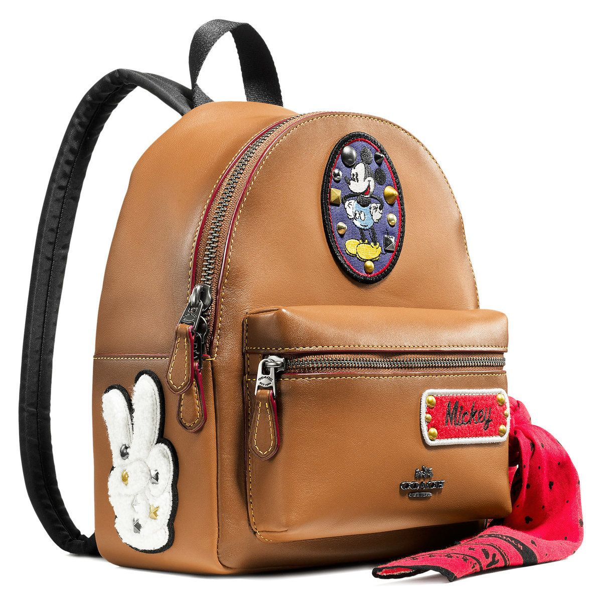 655763bac60 Mickey Mouse Patch Mini Charlie Leather Backpack by COACH   Disney ...