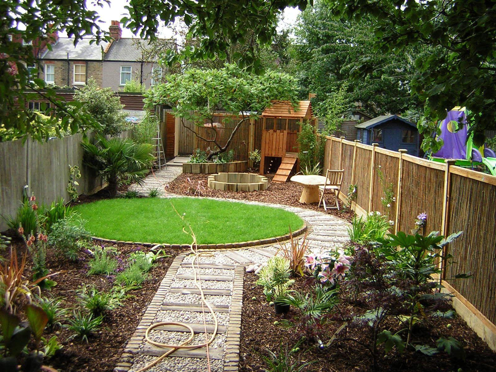 Long Thin Suburban Beckenham Garden Design 2 Gardeninglayout Garten Design Gartengestaltung Hinterhof Garten