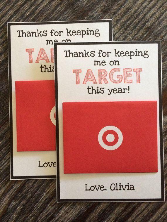 TEACHER GIFT CARD Holder - Target - Red Black and White - Teacher ...