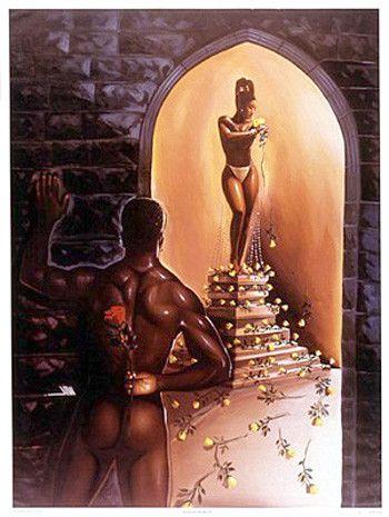 Schwarze afrikanische Liebeskunst