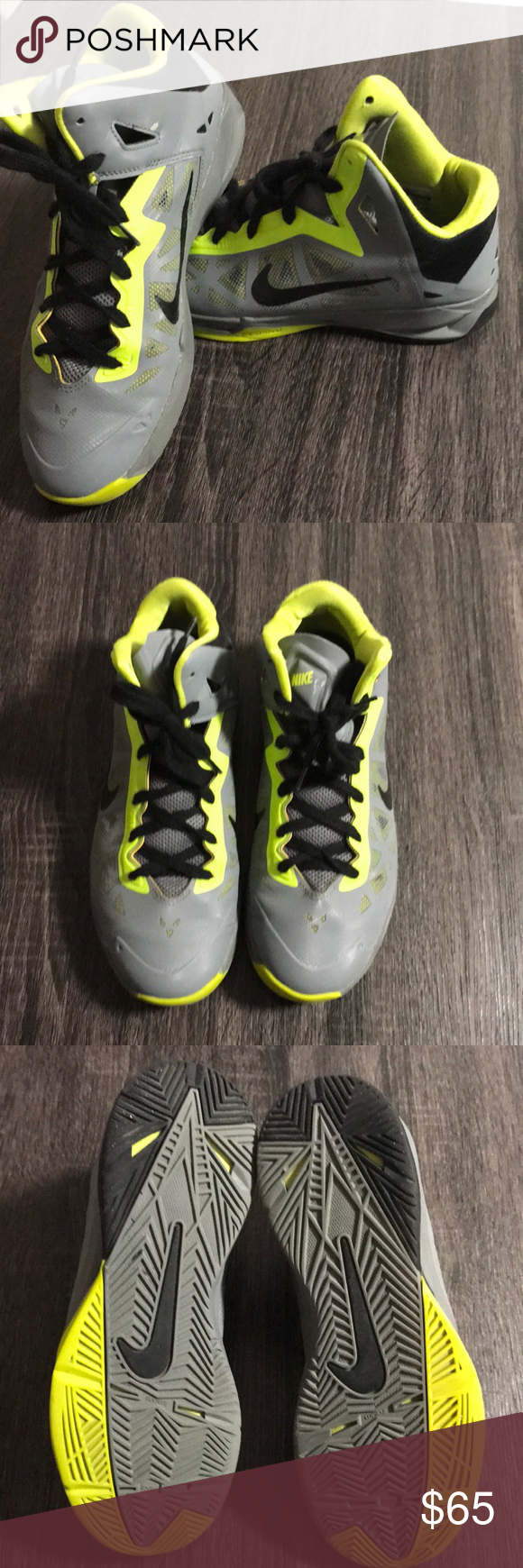 brand new 4bc56 afdcb Nike Zoom Hyperchaos Size  8 Colors  Cool Grey Black Atomic Green, Great  Condition! Only worn a few times. Nike Shoes Athletic Shoes