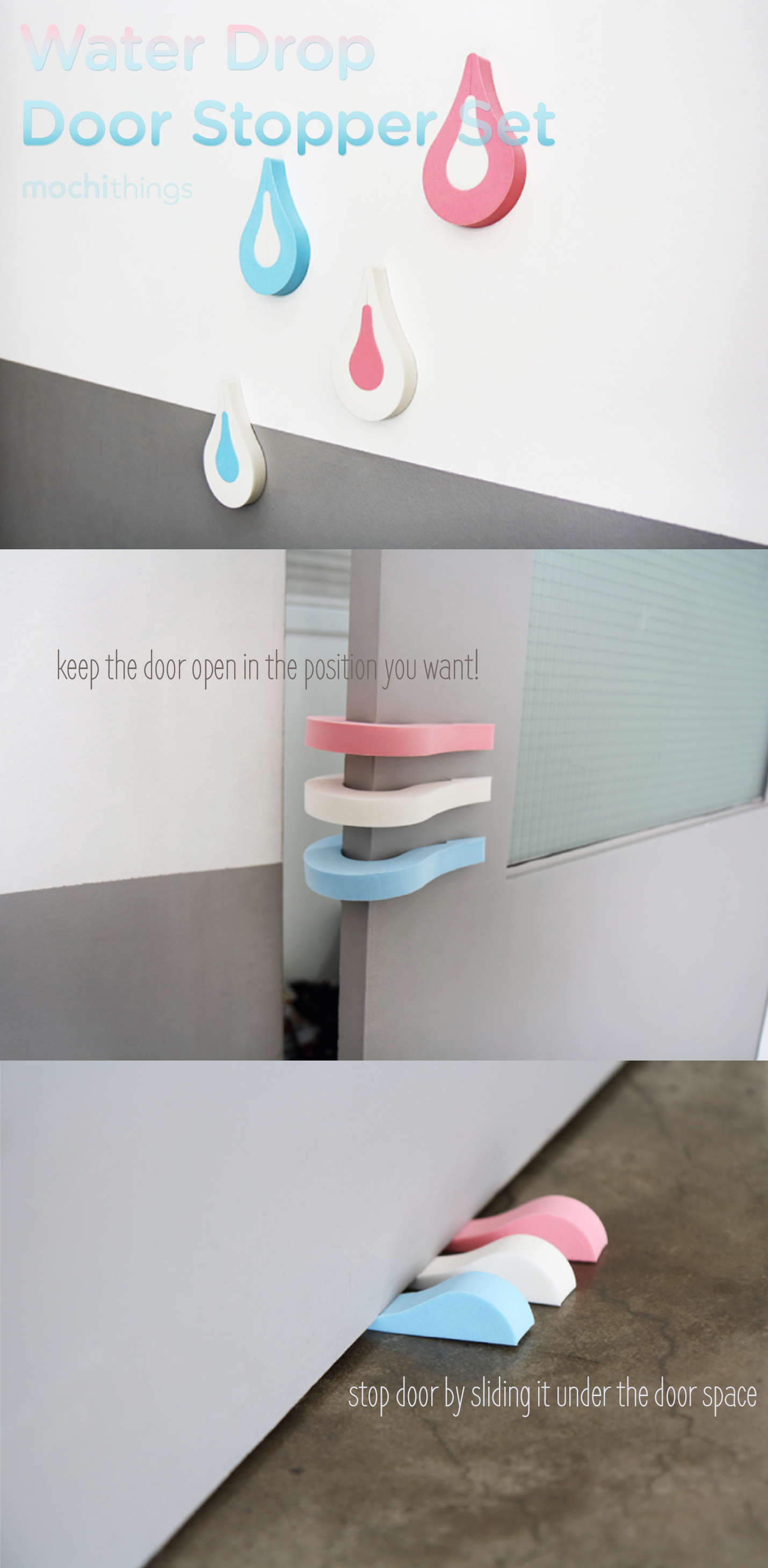 This Is The Most Unique Set Of Door Stoppers I Ve Ever Seen 1 Waterdrop Creates 3 Doorstops The Big Water Drop C Decor Classroom Decor