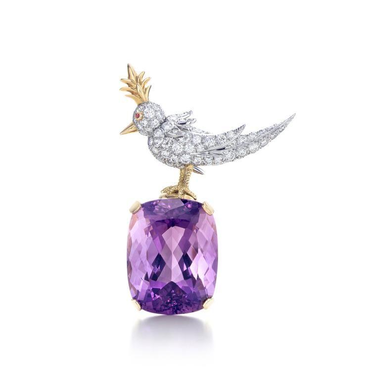 7e59753fde776 Jean Schlumberger Bird on a Rock amethyst brooch in 2019 | jewels ...