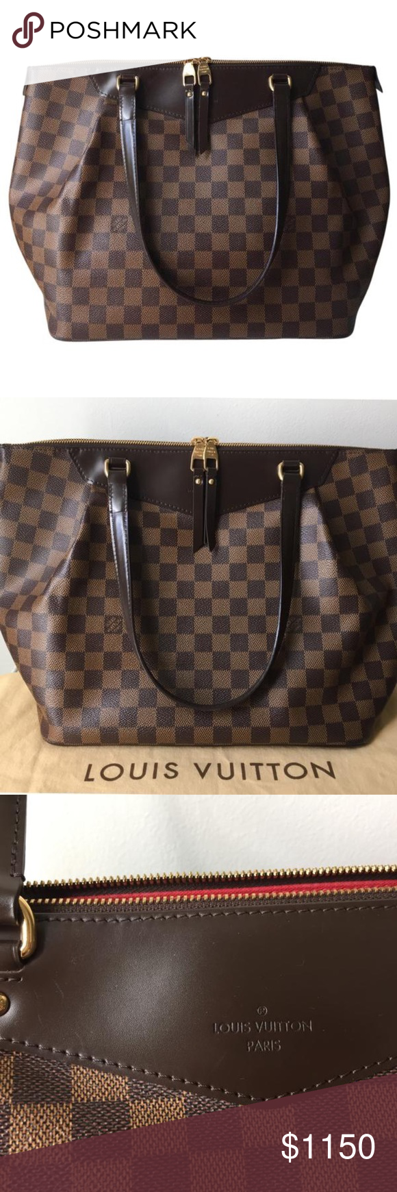 5034ea4e68d0 Louis Vuitton Westminster GM Damier Authentic Louis Vuitton. This gorgeous  bag has a lot of room. 3 pockets on the inside. It has mild marks. Handle  ...