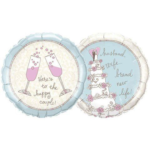 """18"""" Wedding Cake Happy Couple (1 per package) by Qualatex. $5.71. Packaged"""