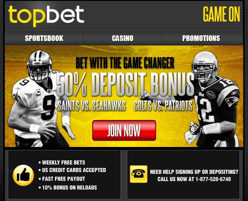 The homepage update from TopBet, reflecting the