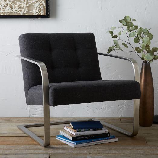 Steel-Armed Bend Chair - Solid